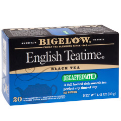 BIGELOW ENGLISH TEATIME BLACK TEA 20 CT BOX