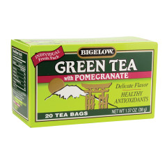 BIGELOW GREEN TEA WITH POMEGRANATE 20 CT BOX