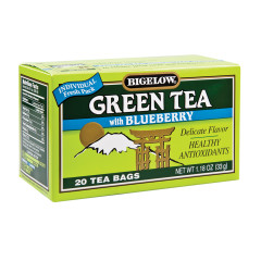 BIGELOW GREEN TEA WITH BLUEBERRY 20 CT BOX