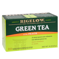BIGELOW GREEN TEA WITH PEACH 20 CT BOX