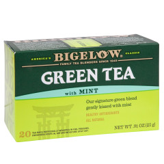 BIGELOW GREEN TEA WITH MINT 20 CT BOX