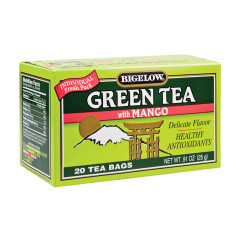 BIGELOW GREEN TEA WITH MANGO 20 CT BOX
