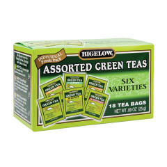 BIGELOW ASSORTED GREEN TEAS 18 CT BOX