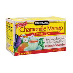 BIGELOW CHAMOMILE MANO HERB TEA 20 CT BOX
