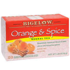 BIGELOW ORANGE AND SPICE HERBAL TEA 20 CT BOX