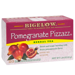 BIGELOW POMEGRANATE PIZZAZ HERBAL TEAL 20 CT BOX