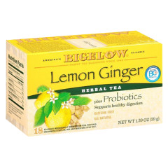 BIGELOW LEMON GINGER HERBAL TEA 18 CT BOX