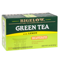 BIGELOW DECAF GREEN TEA WITH LEMON 20 CT BOX