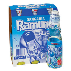 SANGARIA RAMUNE ORIGINAL SODA 6 PK 6.76 OZ BOTTLES