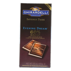 GHIRARDELLI INTENSE 60% DARK CHOCOLATE EVENING DREAM 3.5 OZ BAR