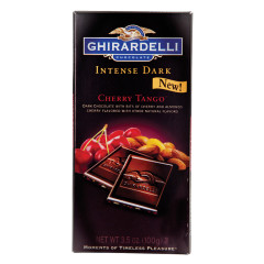 GHIRARDELLI INTENSE DARK CHOCOLATE CHERRY TANGO 3.5 OZ BAR