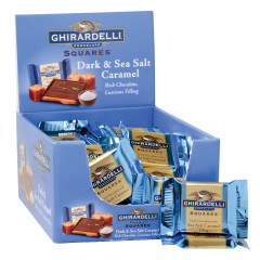 GHIRARDELLI DARK CHOCOLATE SEA SALT CARAMEL FILLED SQUARES 0.53 OZ