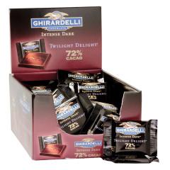 GHIRARDELLI 72% TWILIGHT DELIGHT SQUARES 0.53 OZ