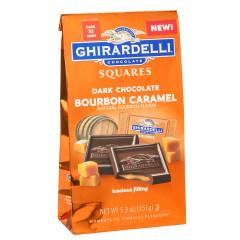 GHIRARDELLI DARK CHOCOLATE BOURBON CARAMEL 5.3 OZ BAG