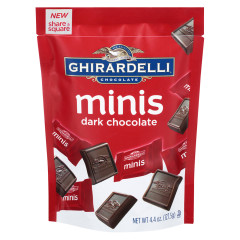 GHIRARDELLI MINIS DARK CHOCOLATE 4.4 OZ POUCH