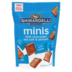 GHIRARDELLI MINIS MILK CHOCOLATE SEA SALT ALMOND 4.3 OZ POUCH