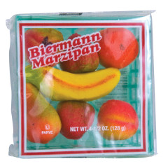 BIERMANN MARZIPAN FRUIT BASKET 4 OZ