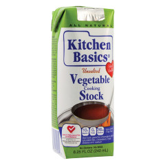 KITCHEN BASICS UNSALTED VEGETABLE STOCK 8.25 OZ