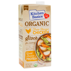 KITCHEN BASICS ORGANIC CHICKEN STOCK 32 OZ