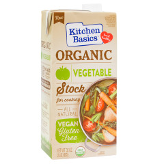 KITCHEN BASICS ORGANIC VEGETABLE STOCK 32 OZ