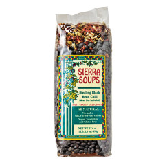 SIERRA SOUPS SIZZLING BLACK BEAN CHILI 17.6 OZ BAG