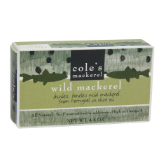 COLE'S WILD MACKEREL IN OLIVE OIL 4.4 OZ BOX