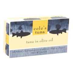 COLE'S TUNA IN OLIVE OIL 4.2 OZ BOX