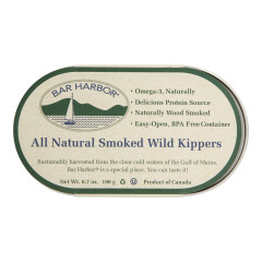 BAR HARBOR ALL NATURAL SMOKED WILD KIPPERS 6.7 OZ CAN