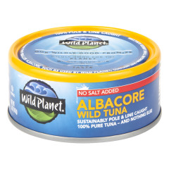 WILD PLANET NO SALT ADDED ALBACORE WILD TUNA 5 OZ CAN