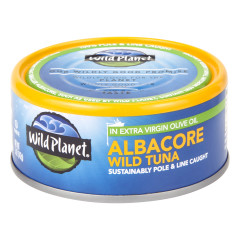 WILD PLANET ALBACORE WILD TUN IN EXTRA VIRGIN OLIVE OIL 5 OZ CAN
