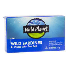 WILD PLANET WILD SARDINES IN WATER WITH SEA SALT 4.4 OZ
