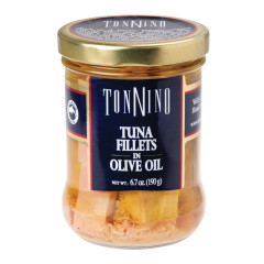 TONNINO TUNA FILLETS IN OLIVE OIL 6.7 OZ JAR