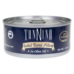 TONNINO SOLID TUNA FILLETS IN OLIVE OIL 4.9 OZ CAN