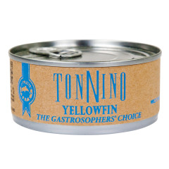 TONNINO YELLOWFIN TUNA FILLETS IN WATER 4.9 OZ CAN