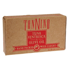 TONNINO TUNA VENTRESCA IN OLIVE OIL 4 OZ CAN