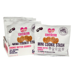BELGIAN BOYS MINI COOKIE STASH MUSTACHE COOKIES 1 OZ BAG