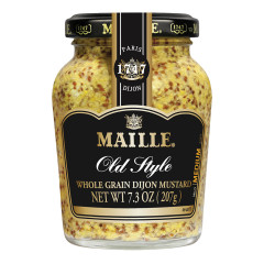 MAILLE OLD STYLE WHOLE GRAIN DIJON MUSTARD 7.3 OZ JAR