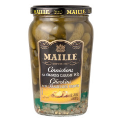 MAILLE CORNICHONS WITH CARAMELIZED ONIONS 13.5 OZ JAR
