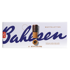BAHLSEN WAFFELETTEN DARK CHOCOLATE WAFER ROLLS 3.5 OZ