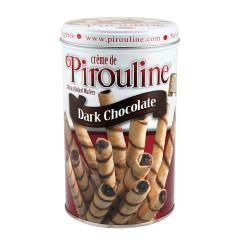 DEBEUK PIROULINE DARK CHOCOLATE ROLLED WAFERS 14 OZ TIN