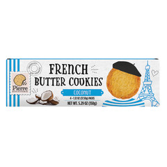 PIERRE FRENCH BUTTER COOKIES WITH COCONUT 5.29 OZ BOX