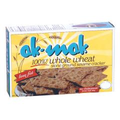 AK MAK WHOLE WHEAT SESAME CRACKERS 4.75 OZ BOX