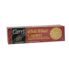CARR'S WHOLE WHEAT CRACKERS 7 OZ BOX