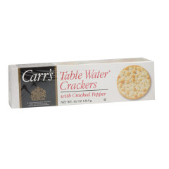 CARR'S CRACKED PEPPER TABLE WATER CRACKERS 4.25 OZ BOX