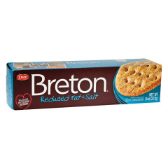 DARE BRETON REDUCED FAT & SALT CRACKERS 8 OZ BOX