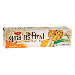 DARE GRAINS FIRST WHOLE GRAIN CRACKERS 8.8 OZ BOX