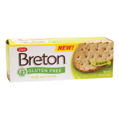 DARE BRETON GLUTEN FREE HERB & GARLIC CRACKERS 4.76 OZ BOX