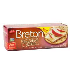 DARE BRETON SPROUTED GRAINS CARAMELIZED ONION 5.11 OZ BOX