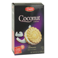 DARE COCONUT CREME COOKIES 10.2 OZ BOX