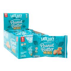 LATE JULY ORGANIC MINI PEANUT BUTTER SANDWICH CRACKERS 1.13 OZ BAG